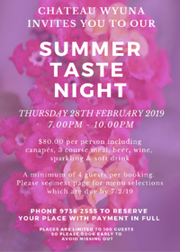Taste night summer 2019